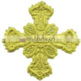 Decorative Gold Bullion Wire Cross for Church, liturgical vestment decoration