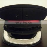 2cm width bullion embrodiery visor military hat
