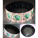 Indoor Cylinder LED Display With High Definition,Curved P4mm Column Circular LED Panel Best Color Uniformity