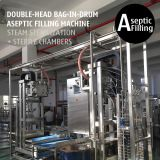 Double-head 200L Bag in Drum Fruit Puree Paste Aseptic Filling Machine