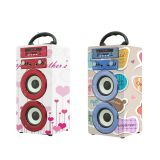 Wonderful Sound Rechargeable 1200mah Wireless Karaoke Party Speaker Outdoor Music System with USB/AUX/TF card/Microphone