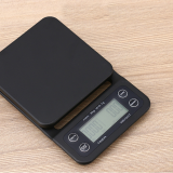 digital coffee scale GKS1564B ABS 5kg/0.1oz for brewing drip coffee with a visible timer