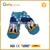 Wholesale Hot feshion blue cute donald duck feather yarn girl sock