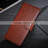 High quality leather wallet case for sony lt39h , flip case for sony zl