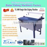 Single Folding Side Machine YL-DB-800 which can produce folders, photo album book cover and other products edge
