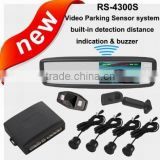 4.3 inch special video parking sensor system with anti radar