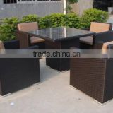 Night club furniture wicker pictures of dining table chair rattan luxury dining table