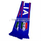 promotional knitted Italy flag scarf
