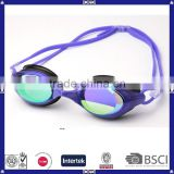 wholesale clear mirror coated swim goggle