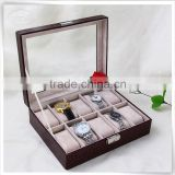 high-end luxury handmade pu leather branded watch box                                                                                         Most Popular