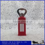 creative cheap bulk wholesale polyresin souvenir telephone booth design antique bottle opener