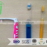 2015 new arrival top quality disposable hotel toothbrush white /5g fluoride toothpaste