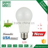 A19 dimmable 6w led e26 base led bulb usa ETL for US market brightest led bulb led bulb lamp