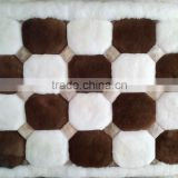 ALPACA FUR RUG - GEOMETRIC DESIGN - 1