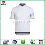 White and light blue top perfomance coolmax cycling jersey