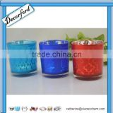 Hot Sale gold colored round mercury glass votives wholesale- 0109
