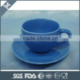 Porcelain coffee cup and saucer new 180cc, blue colored cup set