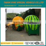 china supplier fiberglass fruit kiosk/food kiosk/orange kiosk