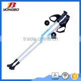 Folding walking stick with light, Trekking pole ski pole grip, Nordic walking stick rubber tips