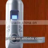 Fingerprint & Keypad & Mechanical key golden color biometric Fingerprint door Lock PY-6698