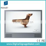 "wall mounted 22"" high resolution wide screen advertising player with metal case"