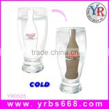 Beer glass photo color changing mugs/high quality personalized cold magic mug