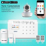 3G wireless home camera security system support IP camera cover 99 wireless zone GSM Alarm system