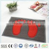 HOT fashion pvc mat--double color&DOUBLE FEET door mat,new design/pvc floor mat - qinyi