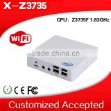 XCY Fanless Linux Box PC Z3735F Atom1.8Ghz 2G RAM 32G SSD Quad-core Desktop Computer support expand COMRS232 Industrial Computer