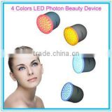 2014 New!!! 4 Colors Photon LED Acne Wrinkles and Anti-aging Beauty Device with Vibration