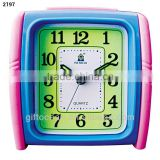 analog flashing music bell plastic snooze desktop alarm clock