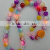 Hot sale led beads necklace colorful light up necklace for party