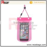 Promotional PVC water proof mobile phone carry sling bag