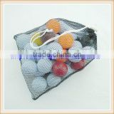 funny golf balls with portable mesh bag different logo printing