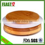 Nice design bamboo lids/wooden lids with silicon ring for glass bottle                                                                         Quality Choice