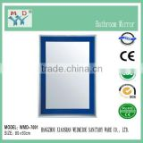 Unframed bathroom mirror glass with polished edge in irregular shapes, OEM / ODM service available