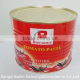 lower price with 2200g canned tomato paste,sweet taste,high quality,bright red ,brix 28%-30%