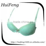 Custom lace back nylon smooth cup latest fashion ladies underwear new design Ladies Sexy Lace Bra