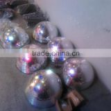 12'' 30cm stainless steel half round ball clear hollow plastic half sphere marror ball