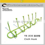 YB-J030 Wall-mounted Bathroom Metal Clothes Hook / Back Door Hanging Hook / Over the Door Hat Hanger