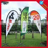 Promotional double sided feather portable flag banner