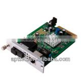 80km card type rack mounted media converter insert to chassis price