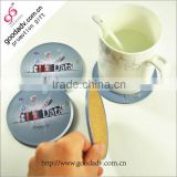 Guangzhou factory direct sale cheap round tin coaster set for promotional