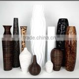 Floor bamboo vase, Lacquer bamboo decor vases
