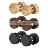 Pair of Fake Wooden Cheater Style Saddle Plugs - Standard 16G Earring Size.                                                                         Quality Choice