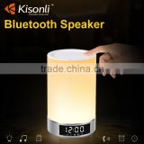 Hot Touch LED Light Wireless Bluetooth Stereo Speaker With Alarm Clock Function Support TF Card MP3