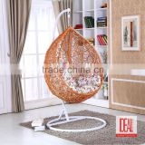 high end egg swing chair outdoor swing sets for adults,swing rattan egg chair, hanging hammocks with stand