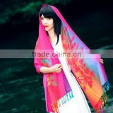Custom jacquard pakistan cotton pashmina shawl 2016                                                                         Quality Choice