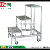 TJG CHINA Climb The Ladder Step Stool Aluminum Alloy Mobile Of Non-Standard Aluminum Alloy Ladder Step Ladde