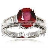 Ruby Gold Ring, diamond ruby ring, engagement ruby ring